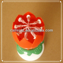 plastic Material and Art Candle Type sparkling Birthday Candle