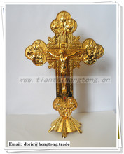 12 Disciple Religious Rosary Alloy Standing Crucifix Cross ,St Benedict catholic standing crucifix