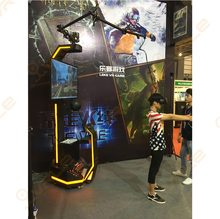 VR arcade with Leke Explorer can play vr shooting game racing game can play mang VR games by this machine