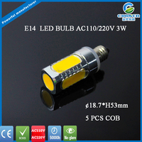 Cheapest factory price directly top sale flame 3w e14 led,e14 led bulb,led lamp e14
