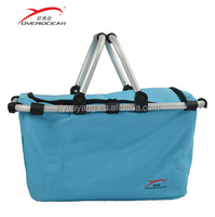 YY-23XC04 picnic basket folding basket insulated cooler bags