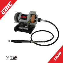 EBIC 120W wet and dry bench grinder with bench grinder wire brush