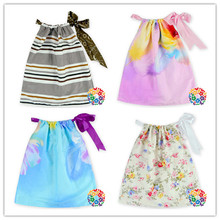 2016 Summer New Fashion Girl Party Wear Western Dress Cotton Umbrella Dress Baby Girls Party Wear Dress