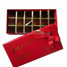 Custom design cardboard paper chocolate box with tray and insert holder