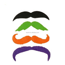 BOSEN Fake Mustache Novelty and Toy, 20 Count Colored Mustaches,Costume Party Disguise