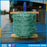 Hot-dipped /electro/galvanized /PVC coated barbed iron wire ISO9001 manufactory