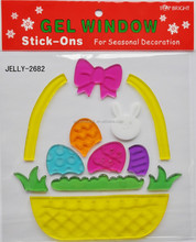 Letter And Alphabet and egg Window Gel Sticker
