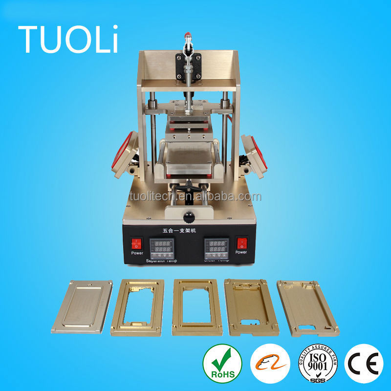 2015 hot selling auto manual 5 in 1 multifunction oca laminating machine glue remover machine ipho to repair lcd touch screen