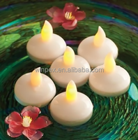 6pcs Amber Flame Flickering LED Water Activated Floating Tea Lights