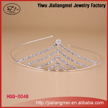Fashion silver child tiara plated pageant crystal hair accessory