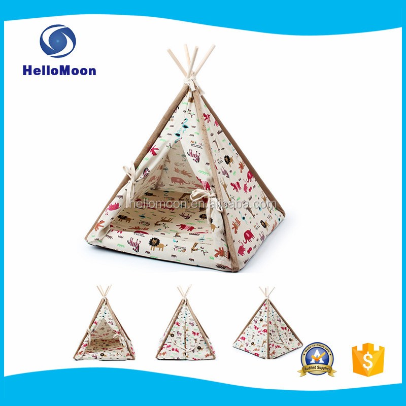 Portable Foldable Indoor Cartoon Printing Pet Tent