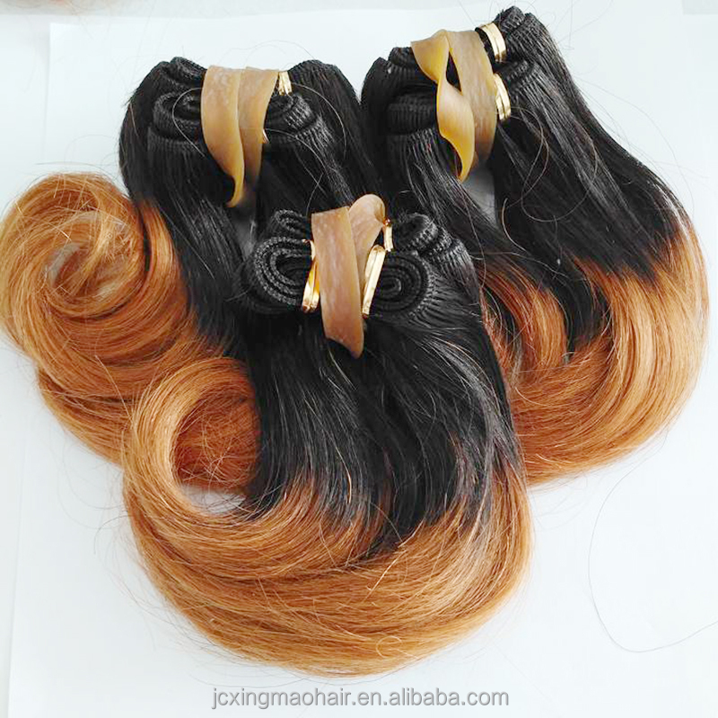 Wholesale 6inch Short Hair Weave Ombre Colors 100human Hair
