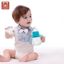 Food Grade Anti Flatulence Silicone Feeding Bottle Squeezable Baby Milk Bottle