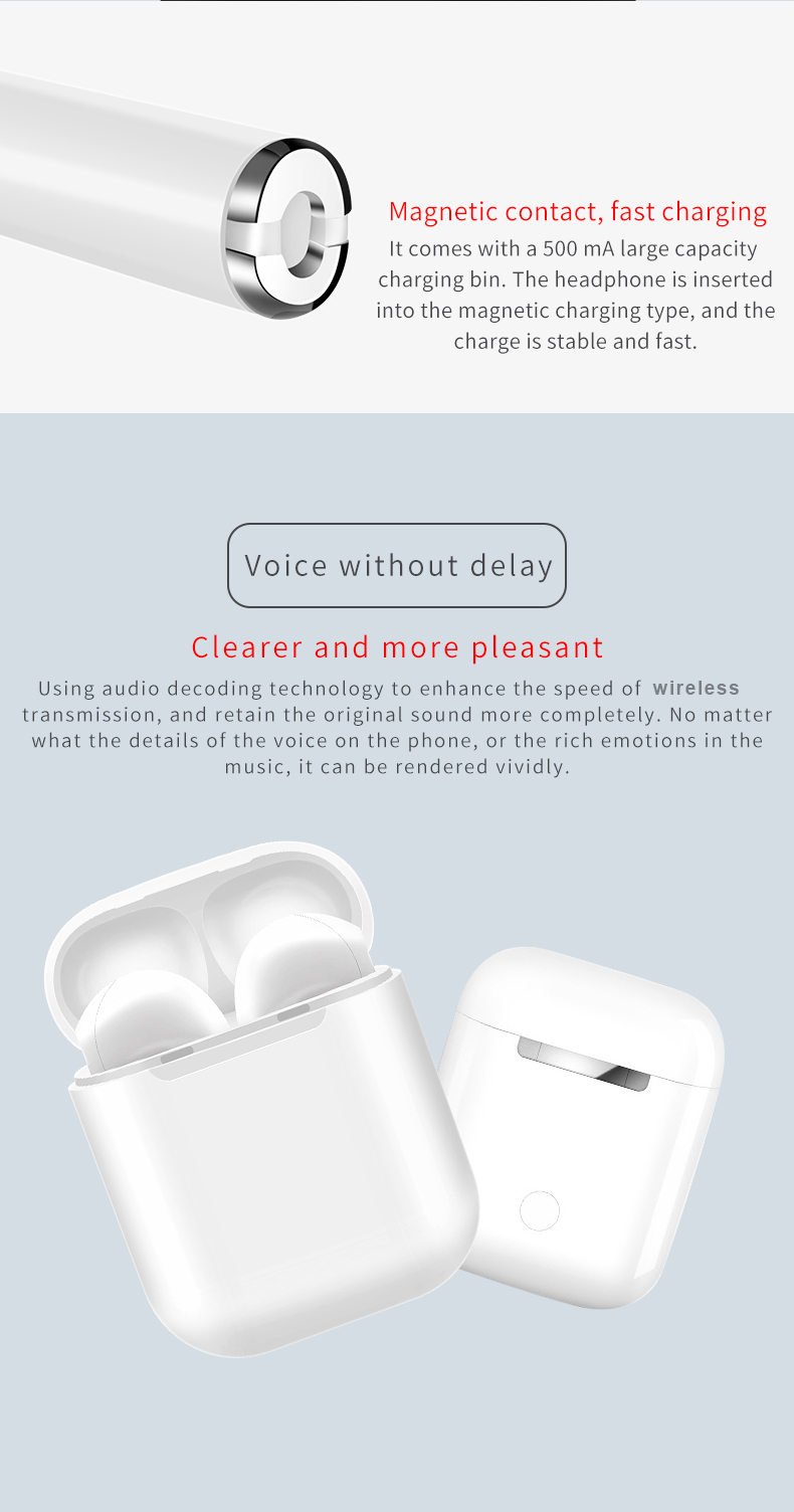 Wireless Blue tooth Headphones TWS i9s earbuds Built in Stereo Mic Charging Case Blue tooth Earbuds