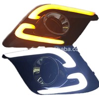 For Mazda 3 AXELA 2014-2016 LED strips DRL Daytime Running Light like matchet Style White & Yellow