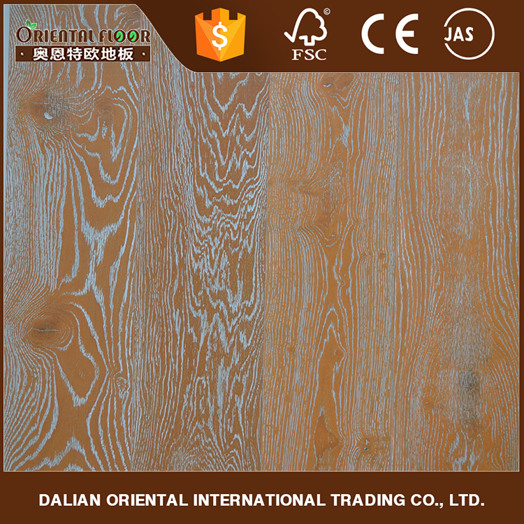 Wholesale products china Unilin Click Oak Flooring and European Oak Wire Brushed Oak Flooring