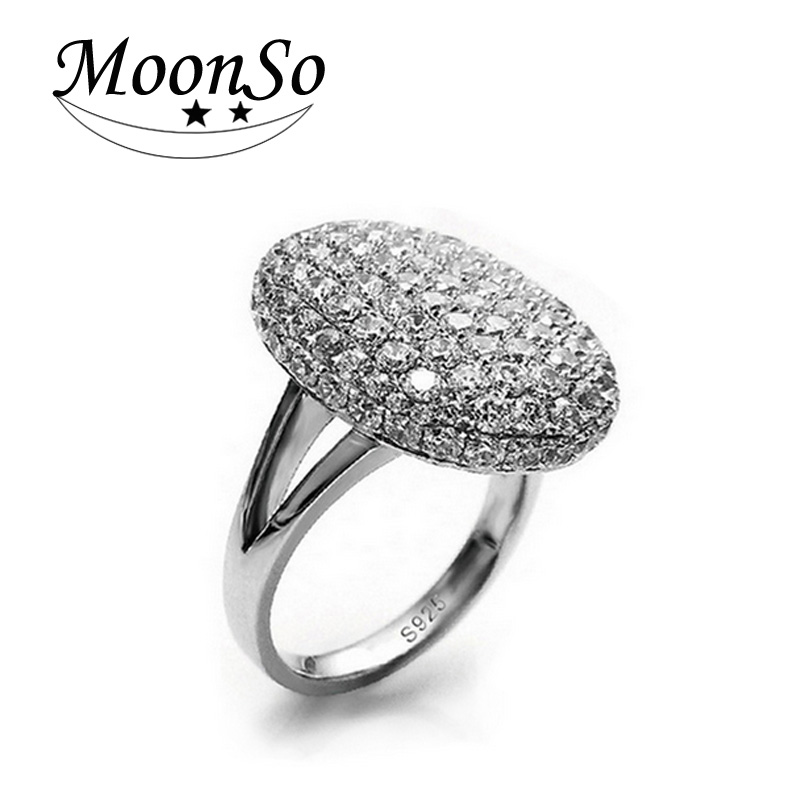 wholesale! fashion jewelry vampire diary oval zirconia cz diamond wedding engagement ring for woman AR103 MOONSO