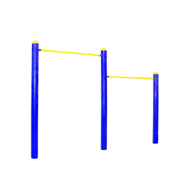 Double Outdoor pull-up bars Fitness Equipment for exercise