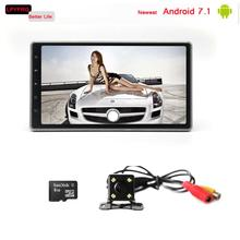 2 double din 10 inch android 7.1 car Stereo with gps system 3g network for most cars universal LPYFRG factory direct selling