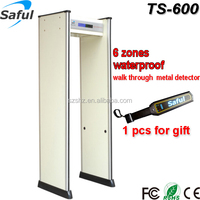 AC90-250V waterproof IP55 security door frame metal detector TS-600 with backup battery supporting more than 8 hours working