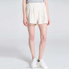 2016 new summer comfortable casual ladies Ruffle plain linen shorts