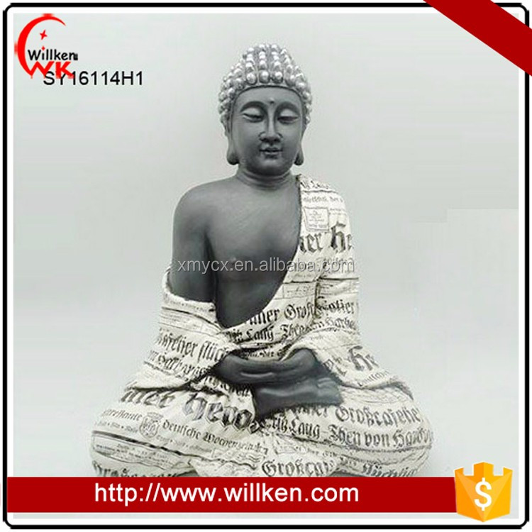 Home indoor decoration the lord buddha photo in newspaper finish