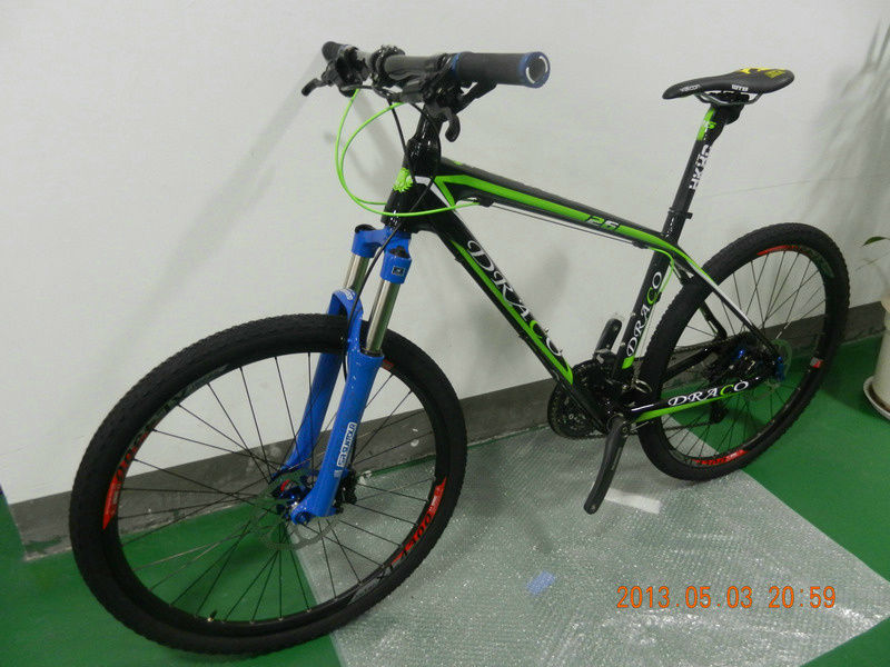 2014 NEW hot sale deore 3*8 speed 26inch carbon fiber mountain bicycle for sale 11.5kg with suspension fork