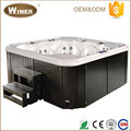 2016 CE certificated luxury outdoor hydro spa hot tub freestanding acrylic whirlpool massage balboa spas