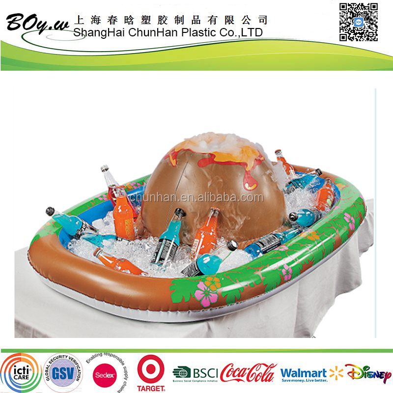 Gold manufacturer testing pool safety boat cooler party bar island ice inflatable bucket cooler
