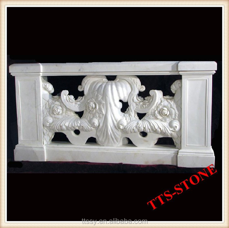White marble statue carving balustrade