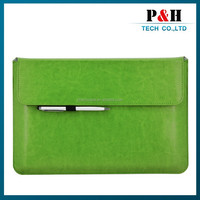 Zipper Pouch Leather Bag for iPad 2 3