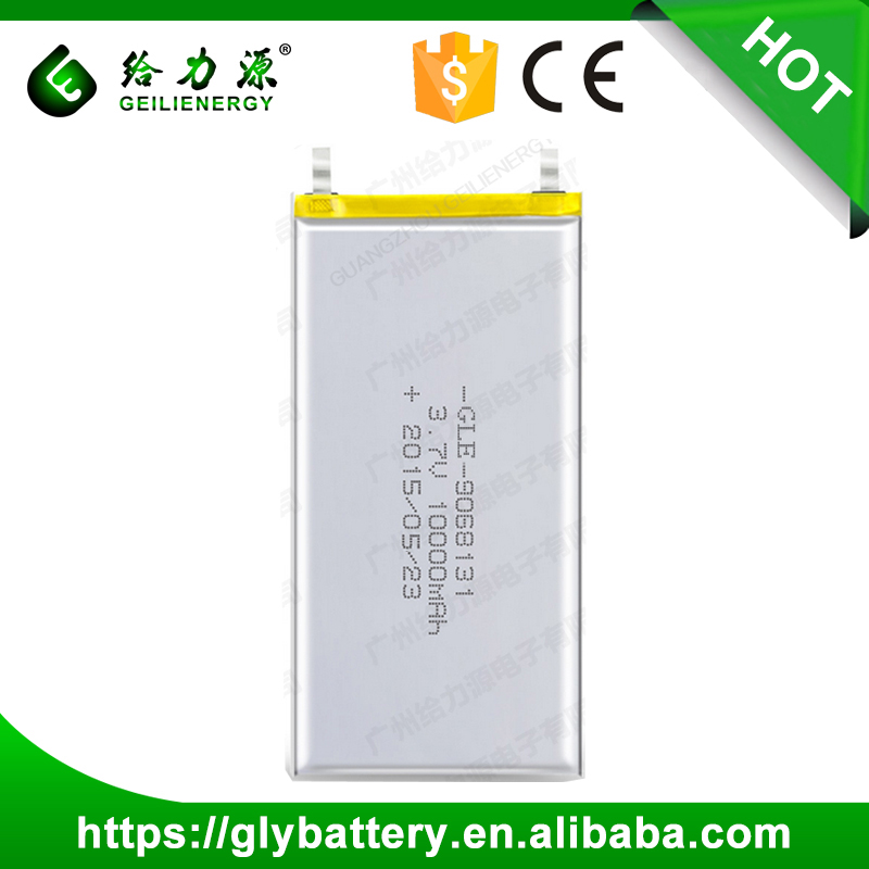 GLE-9068131 Rechargeable Lithium Polymer Battery 3.7V 10Ah