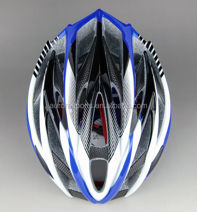 Amzon New adults OEM in-mold EPS+PC carbon fiber bike helmet