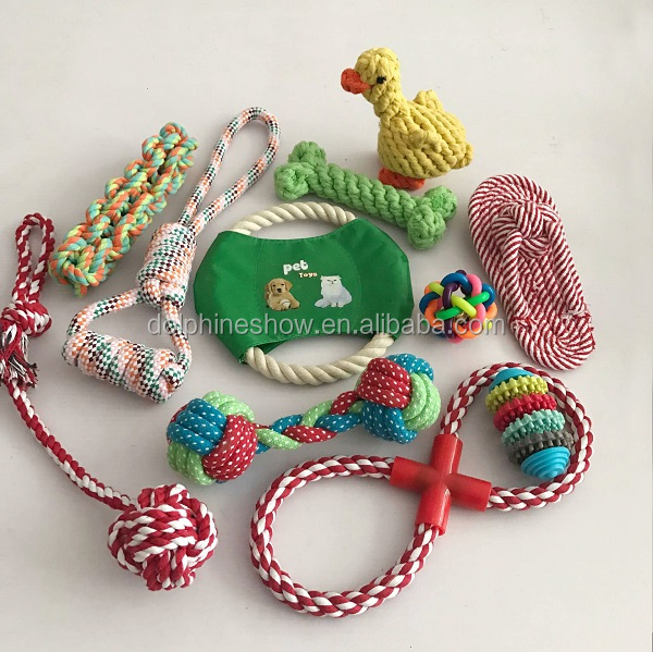 China wholesale cheap dog toy pack mixed plush dog toy and dog rope toy