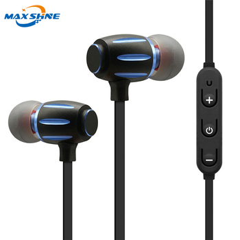 Maxshine 2018 best wireless blue tooth earbud headphone without wire for mobile phone noise cancelling blue tooth headphones