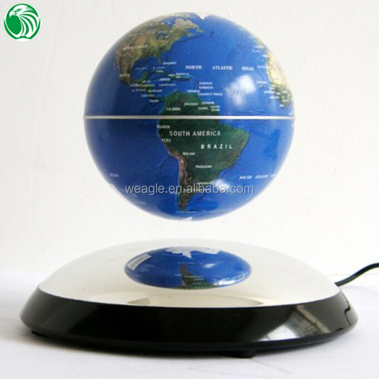 Christmas gift decoration ornament auto free rotation magnetic levitation globe best electronic gift