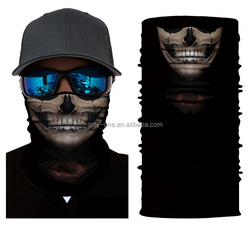 2018 Wholesale Skull Multifunctional Seamless Face Mask Neck Tube Scarf Motorcycle Custom Bandana