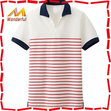 High Quality Men's Fresh Color Polo Shirt red & blue Collar
