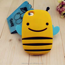 Cell Phone Cute 3D Bee Animal Silicone Case For iPhone 5/5s