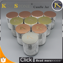 KS810 Natural Carrara White Marble candle jars for sale