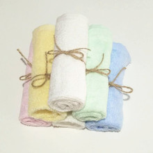 6 pack set 10&quot;<strong>x10</strong>&quot; Bamboo Baby Soft Organic Washcloth Towels for Babies