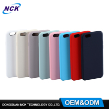 MOQ=100pcs free sample pc silicone cell phone case for iphone 6 7 custom back cover for galaxy s8