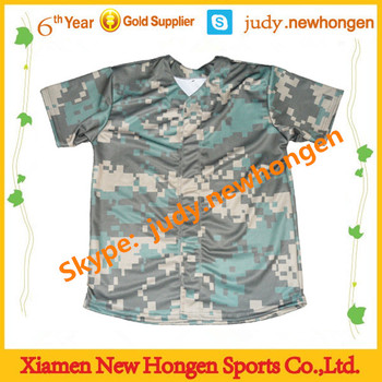 stylish sublimated camo baseball jersey, baseball jerseys uk
