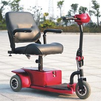 2017 new design portable three-wheel mobility scooter for sale DL24250-1 with CE ceritificate (China)
