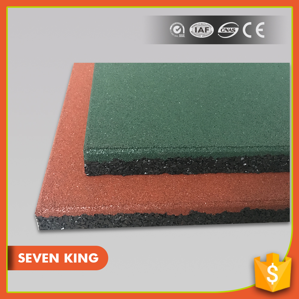 Anti vibration outdoor rubber flooring pavers