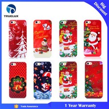 Truelux Christmas Big Discount Ultra Thin Decorative X ' Mas Theme Mobile Phone Case For iPhone 5S PC Case