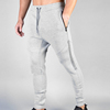 gym two tone sweat zipper joggers mens track pants