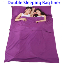 New Products Sleeping Bag Liner Cotton Camping Outdoor, Double Sleeping Bag With 2 Pillows