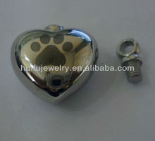 pets cremation pendant stainless steel jewelry
