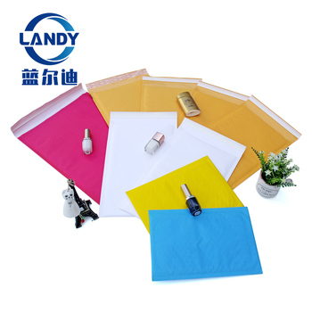 Colored Padded Envelopes with Plastic Exterior and Bubble Lining